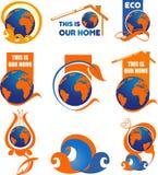Logo d'écologie Photographie stock