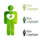 Logo d'écologie ou icône vert, logotype de nature du bourdonnement illustration de vecteur