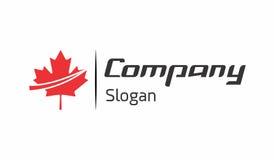 Logo d'économie de feuille de Canada Photo stock