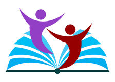 Logo d'éducation illustration de vecteur