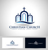 Logo d'église illustration stock