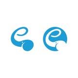 Logo d'éléphant montrant la lettre e avec le tronc Photo libre de droits