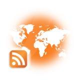 Logo d'émission de RSS Podcast Photos stock