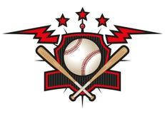 Logo d'équipe de baseball illustration de vecteur
