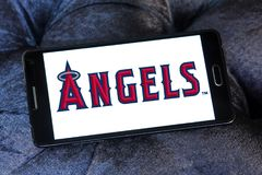 Logo d'équipe de baseball d'anges de Los Angeles Image stock