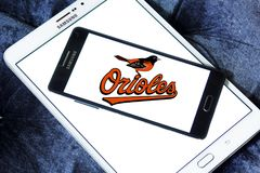 Logo d'équipe de baseball de Baltimore Orioles Photos stock
