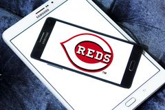 Logo d'équipe de baseball de Cincinnati Reds Photo stock