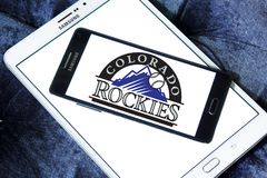 Logo d'équipe de baseball de Colorado Rockies Photo stock