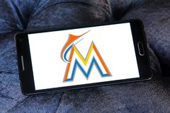 Logo d'équipe de baseball de Miami Marlins Photo stock