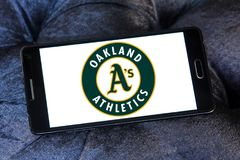 Logo d'équipe de baseball d'Oakland Athletics Images libres de droits