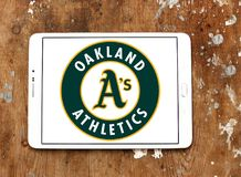 Logo d'équipe de baseball d'Oakland Athletics Photos stock