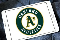 Logo d'équipe de baseball d'Oakland Athletics Photo libre de droits
