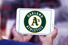 Logo d'équipe de baseball d'Oakland Athletics Photo stock