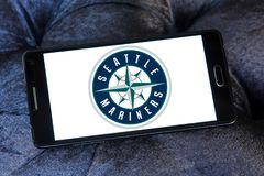 Logo d'équipe de baseball de Seattle Mariners Images libres de droits