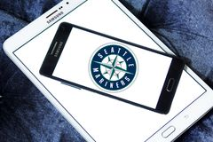 Logo d'équipe de baseball de Seattle Mariners Images stock