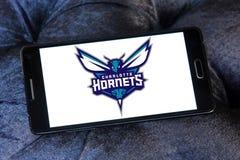Logo d'équipe de basket de Charlotte Hornets American Image libre de droits