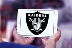 Logo d'équipe de football américain d'Oakland Raiders Photo libre de droits
