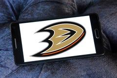 Logo d'équipe de hockey de glace d'Anaheim Ducks Images stock