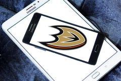 Logo d'équipe de hockey de glace d'Anaheim Ducks Photos libres de droits