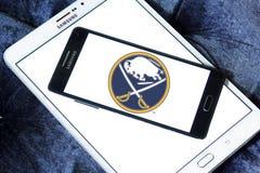 Logo d'équipe de hockey de glace de Buffalo Sabres Image stock