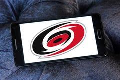 Logo d'équipe de hockey de glace de Carolina Hurricanes Photographie stock