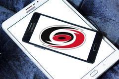 Logo d'équipe de hockey de glace de Carolina Hurricanes Images libres de droits