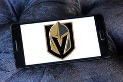 Logo d'or d'équipe de hockey de glace de chevaliers de Vegas Photos stock
