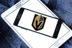 Logo d'or d'équipe de hockey de glace de chevaliers de Vegas Images libres de droits