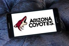 Logo d'équipe de hockey de glace de coyotes de l'Arizona Photographie stock libre de droits