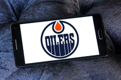 Logo d'équipe de hockey de glace d'Edmonton Oilers Images stock