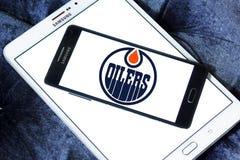 Logo d'équipe de hockey de glace d'Edmonton Oilers Photographie stock libre de droits