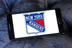 Logo d'équipe de hockey de glace de New York Rangers Photos stock
