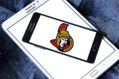 Logo d'équipe de hockey de glace d'Ottawa Senators photographie stock libre de droits