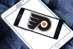 Logo d'équipe de hockey de glace de Philadelphia Flyers Photo stock