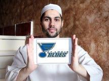 Logo d'équipe de hockey de glace de St Louis Blues Photos libres de droits