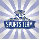 Logo d'équipe de sports de tigre Image stock