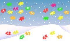 Logo d'érable de CMYK Photos stock