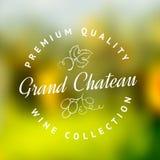 Logo d'établissement vinicole Image stock