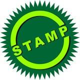 Logo d'étoile de timbre photographie stock