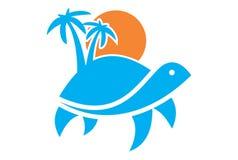 Logo d'île de tortue illustration libre de droits