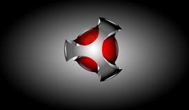 logo 3d Royaltyfri Foto