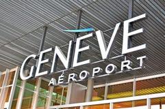 Logo d'aéroport de Genève Photographie stock