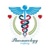 Logo d'affaires d'abr?g? sur vecteur d'Aesculapius pour l'usage dans le traitement m?dical Pr?vention des maladies de syst?me car illustration de vecteur