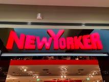 Logo d'affaires de Newyorkais au mail local photos libres de droits