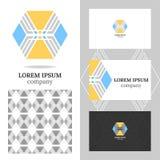 Logo d'affaires pour la société Élément de polygone de vecteur pour l'édition Image stock