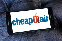 Logo d'agence de travel†d'online†de CheapOair…… Photographie stock libre de droits