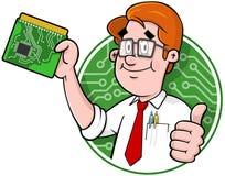Logo d'aide informatique de dessin animé illustration de vecteur