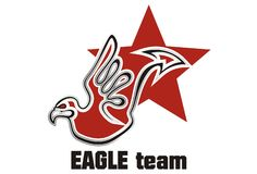 Logo d'aigle Image stock