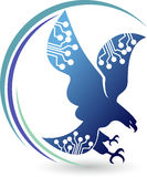 Logo d'aigle de circuit Photo stock