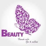 Logo d'aile de papillon Photographie stock libre de droits